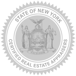 Certified Real Estate Appraisers State of New York Seal